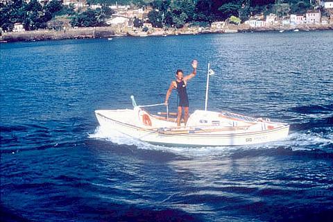 Amyr Klink na travessia de 1984