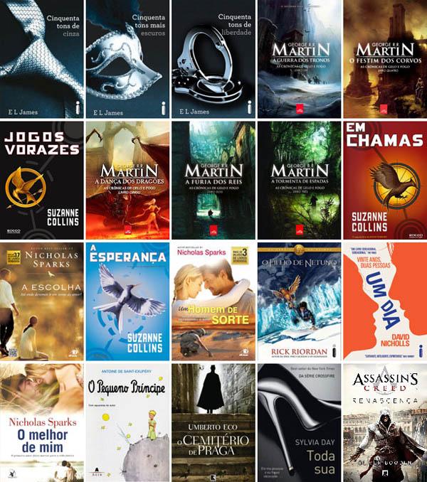 Veja os livros mais vendidos de 2013