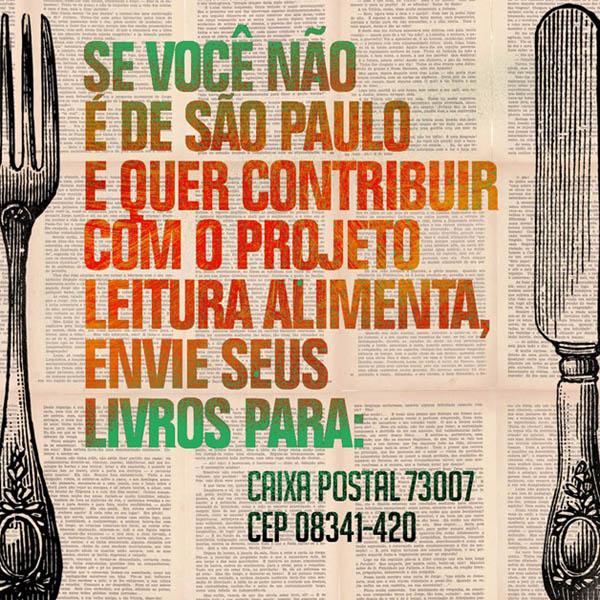 Caixa Postal do Projeto Leitura Alimenta