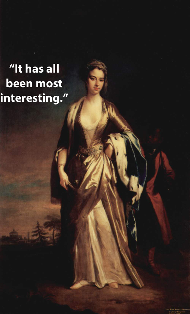 frase de Lady Mary Wortley Montagu