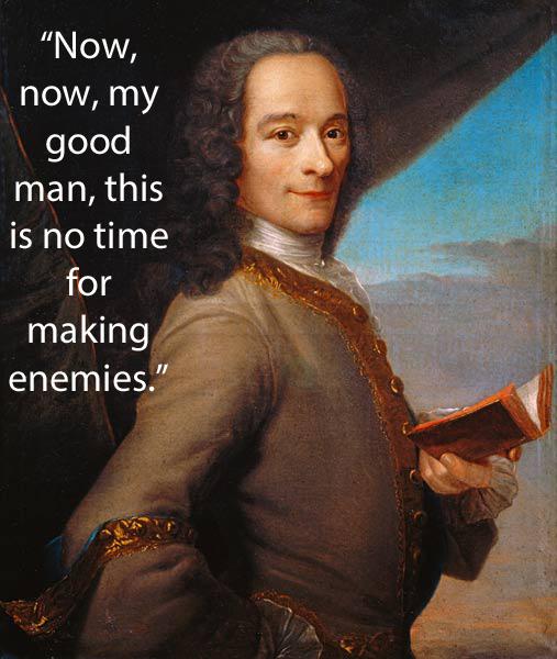 frase de Voltaire